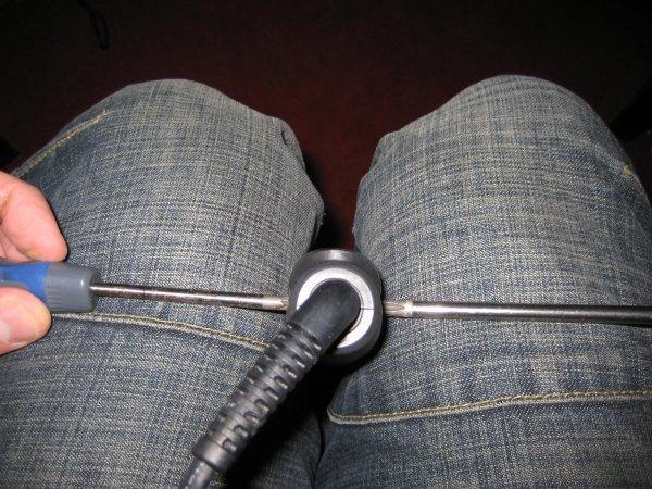 Undo the hinge pin